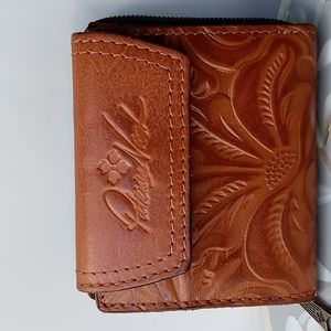 Patricia Nash Brown Floral Leather Wallet